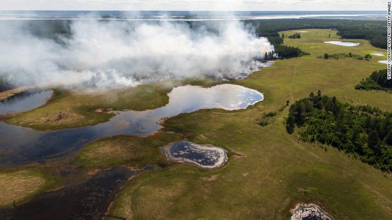 Incendio boschivo nella Repubblica di Sakha in Russia