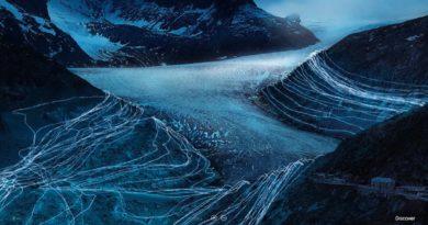 Foto mostrano il ritiro del ghiacciaio