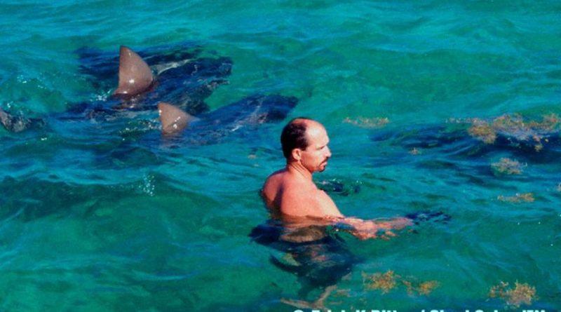 Erich Ritter con degli squali