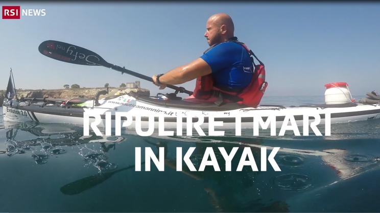 Ciccio Kayak, ripulire i mari in kayak